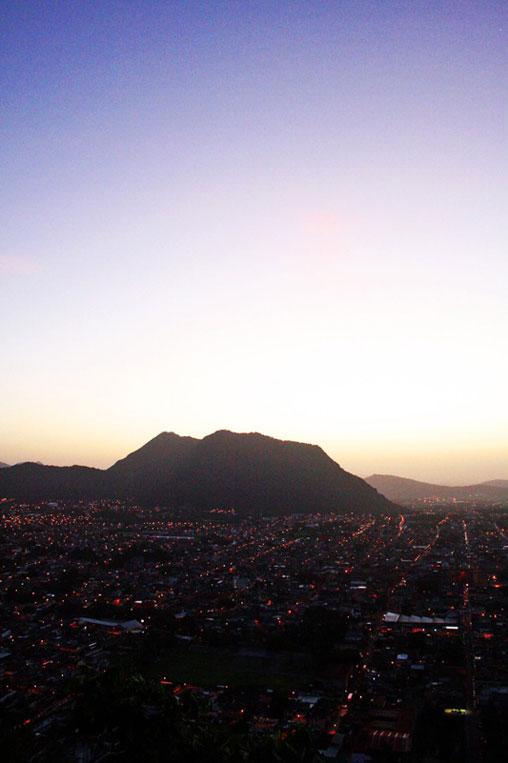 La ciudad de Orizaba vista desde el Cerro del Borrego