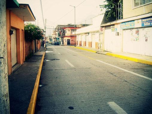 Calles menos glamorosas de la ciudad.