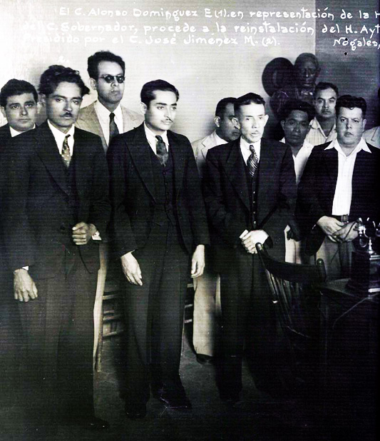 Ayuntamiento de Nogales Veracruz en el pasado, presidente municipal C. José Jiménez Marín