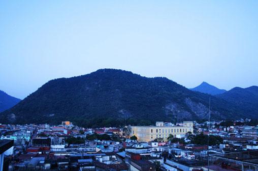 Cerro del Borrego al amanecer.