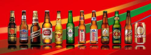 Cervezas producidas por la Cerveceria Cuauhtemoc Moctezuma