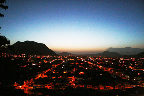 La Ciudad de Orizaba Veracruz al amanecer.