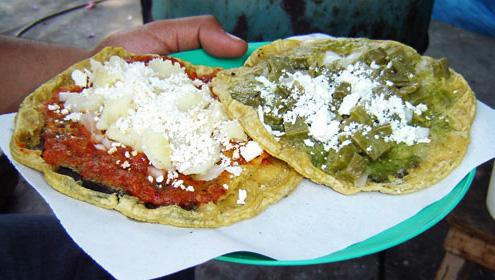 Memelas de Huiloapan Veracruz