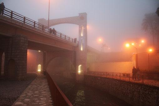 Neblina en la ciudad de Orizaba