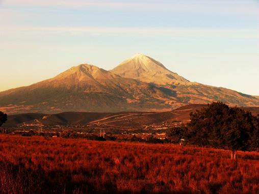 Pico de Orizaba al atardecer.