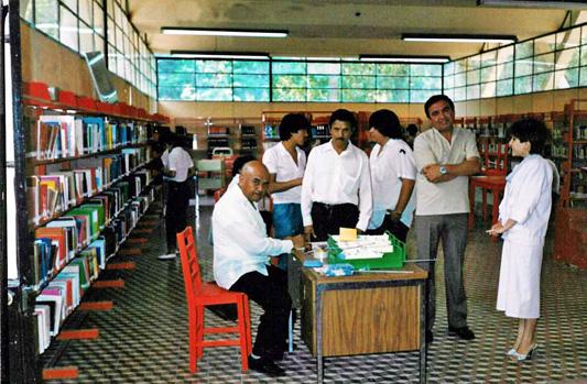 Biblioteca Municipal de Nogales en los años 80's